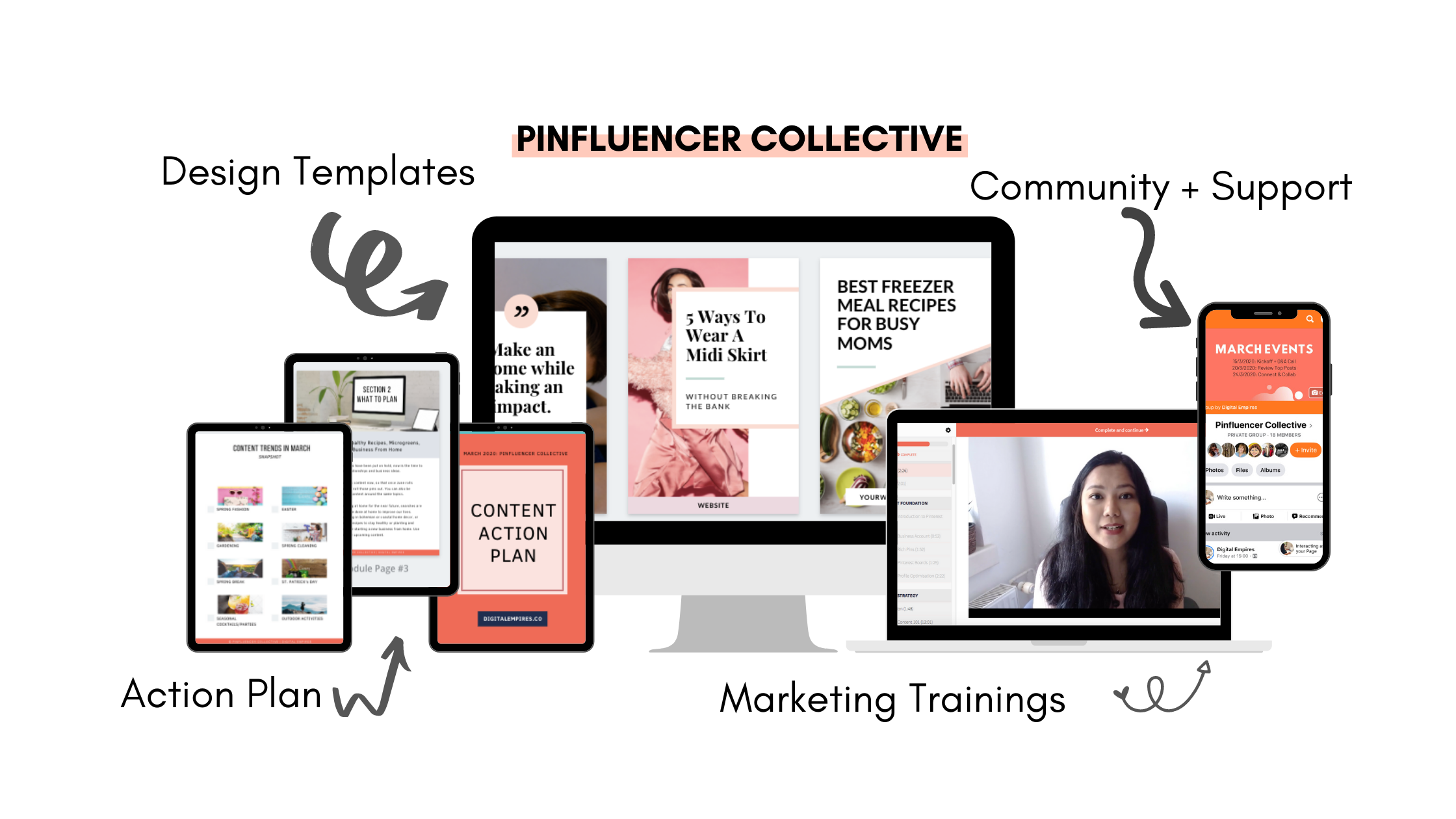 pinfluencer collective mockup