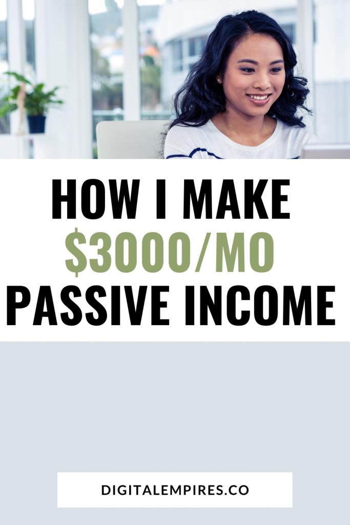 how i make passive income - pinterest image